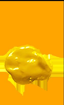 gelber Farbfleck